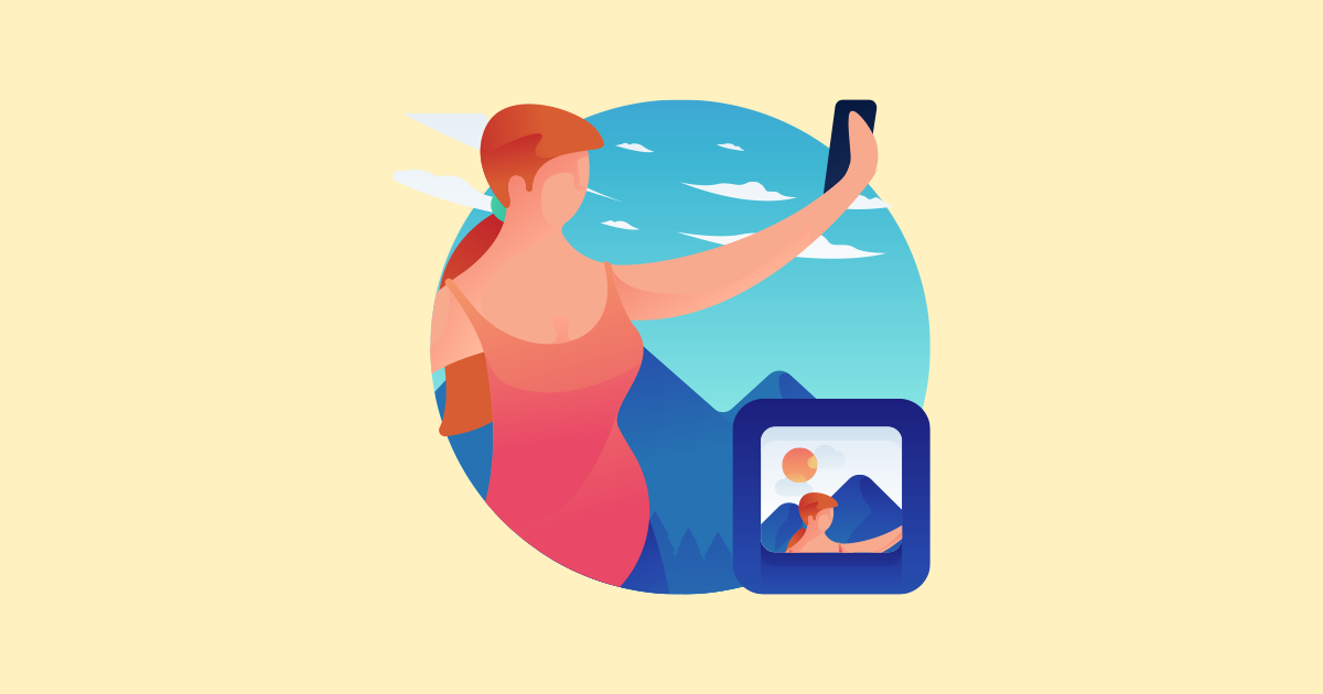 Woman holding phone vertically