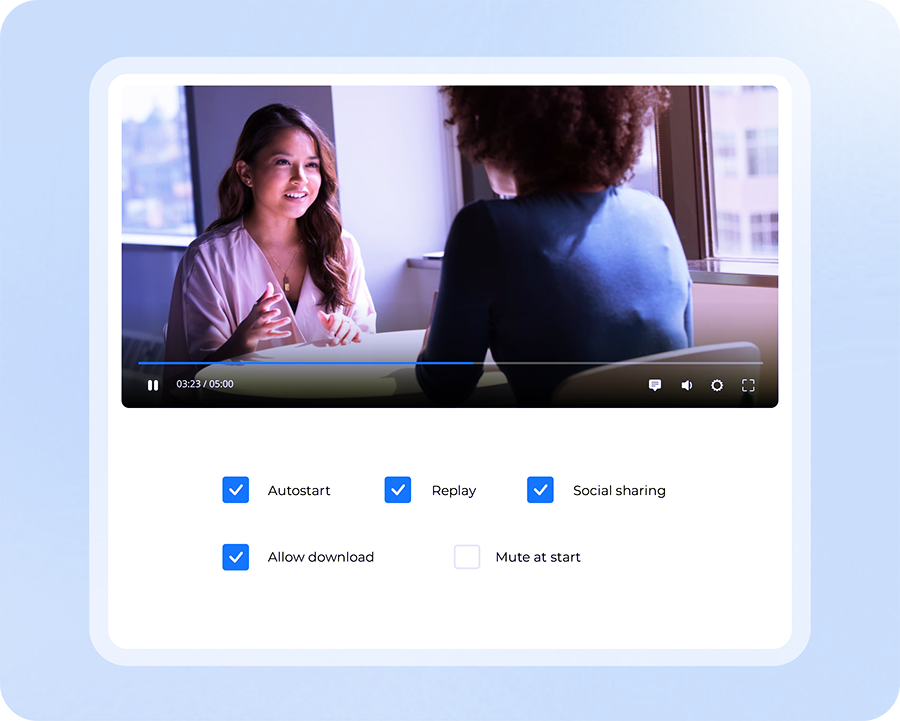 image showing embedding options in video player UI